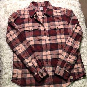 Carhartt plaid flannel women's size medium